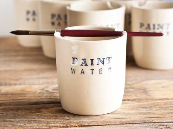 contenitore acqua per dipingere